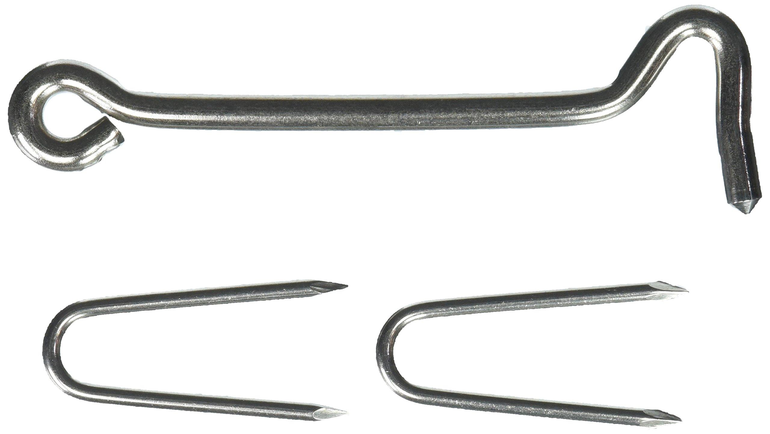 MINTCRAFT LR-431S Staple Plates/Hooks, 6-Inch, Stainless Steel