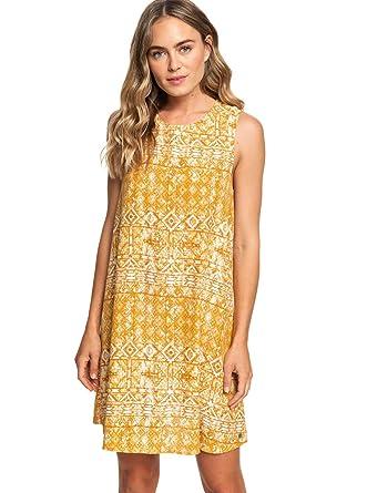 f2efa70dec2a Roxy Women s Harlem Vibes Dress Inca Gold Desert Tile X-Small