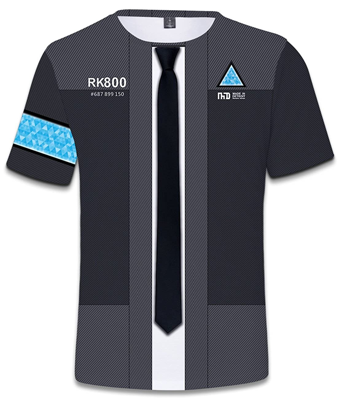 SERAPHY Unisex Shirt Detroit: Become Human T-Shirt con 3D Stampa per Uomo/Donna