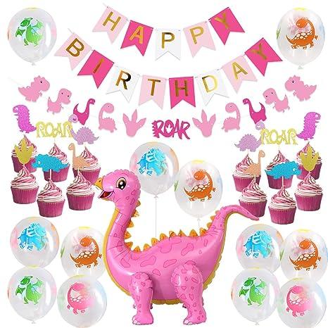 Decoraciones para Fiestas de Dinosaurios para niñas ...