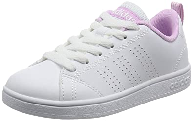 adidas VS Advantage Clean K, Zapatillas de Deporte Unisex niño, Blanco Ftwbla/Orqcla 000, 33 EU: Amazon.es: Zapatos y complementos