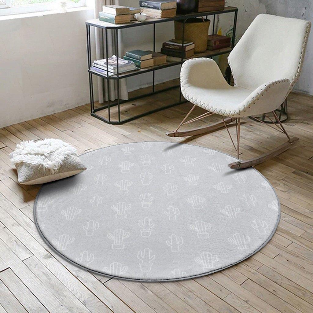 Hyun times Carpet Scandinavian Fashion Round Tea Table Bedroom Living Room Room Blanket Household Knit Basket Computer Chair Swivel Floor Pad ( Color : B , Size : 100cm )