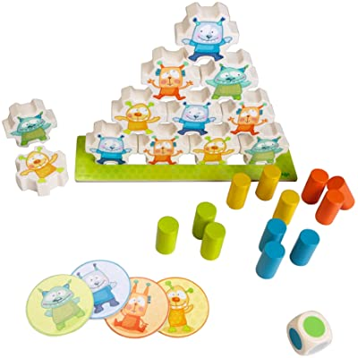 HABA Mini Monsters Wooden Stacking Game for Ages 2 and Up (Made in Germany): Toys & Games