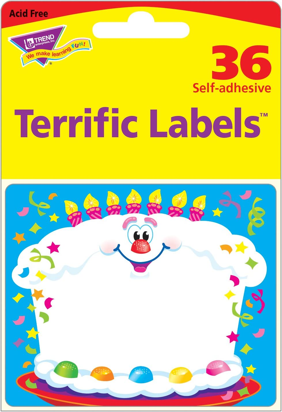 School Labels Party 36 Happy Birthday Name Tag Stickers