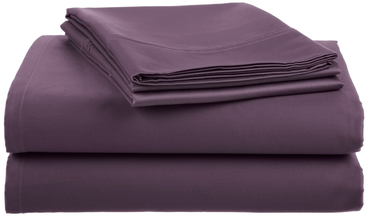 Crowning Touch 500 Thread Count Wrinkle-Resistant Cotton Sheet Set, King, Egg Plant