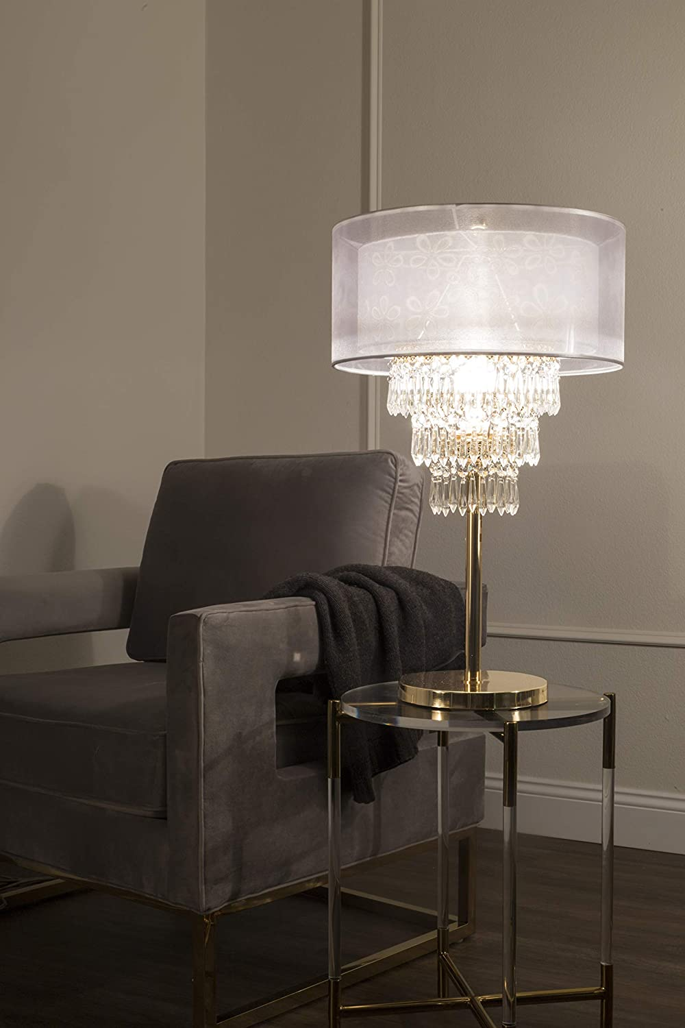 OK Lighting OK-5156T 28.5 H Chantilly Table LAMP