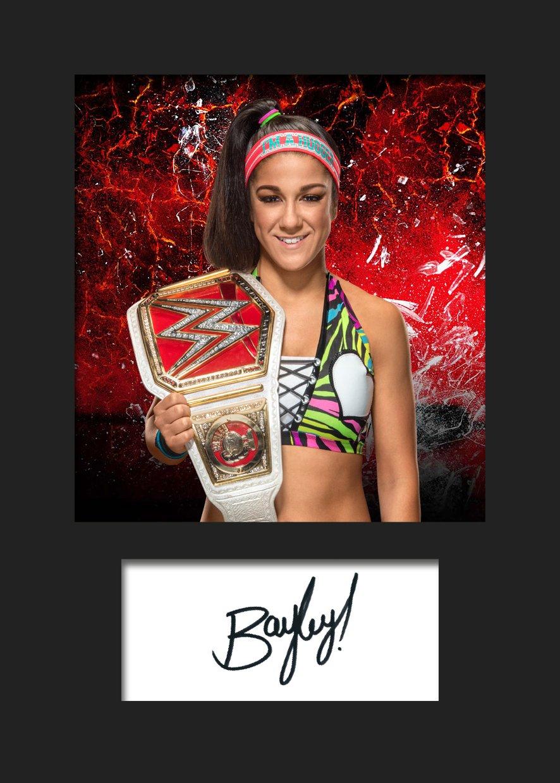 Bayley WWE # 2 Signiert Foto A5 Print FRAME SMART