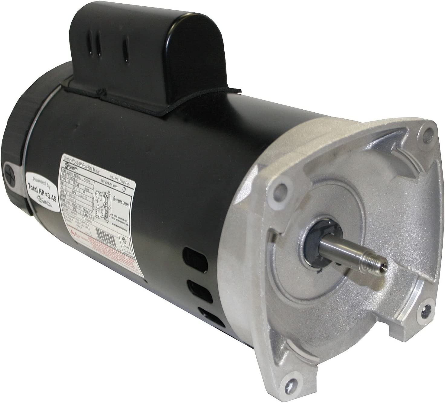 Century 3/4 HP Pool and Spa Pump Motor, Permanent Split Capacitor, 3450 Nameplate RPM, 115/208-230 Voltage, B2661