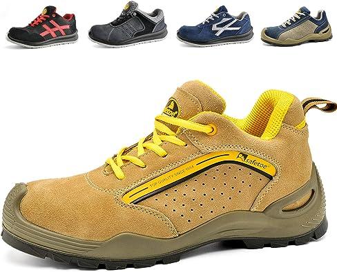 SAFEYEAR Chaussure de Securité Homme Légères Chaussures de Travail Respirantes L 7296Y S1P Basket de Sécurité Chaussures de Sécurité.