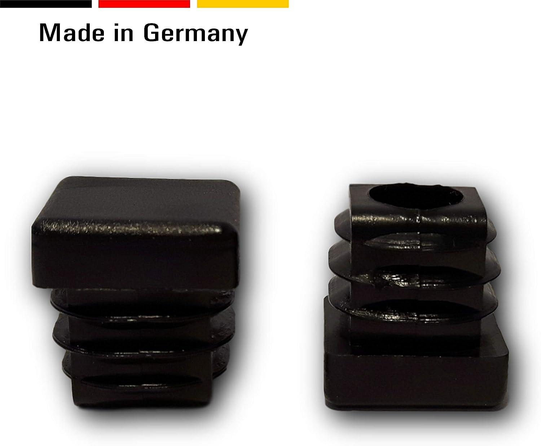 para tubos cuadrados dimensiones exteriores 16x16 mm 20 tapas negras