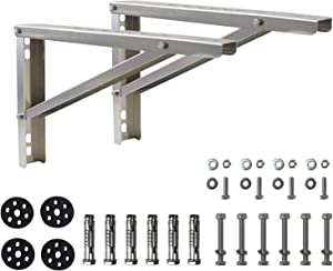 "Wall Mounting AC Brackets, Aluminium Alloy Support for Mini Split Air Conditioner Condensing Units, 9000-36000 Btu Heat Pumps, 26 5/8""Lx16""H Bracket"