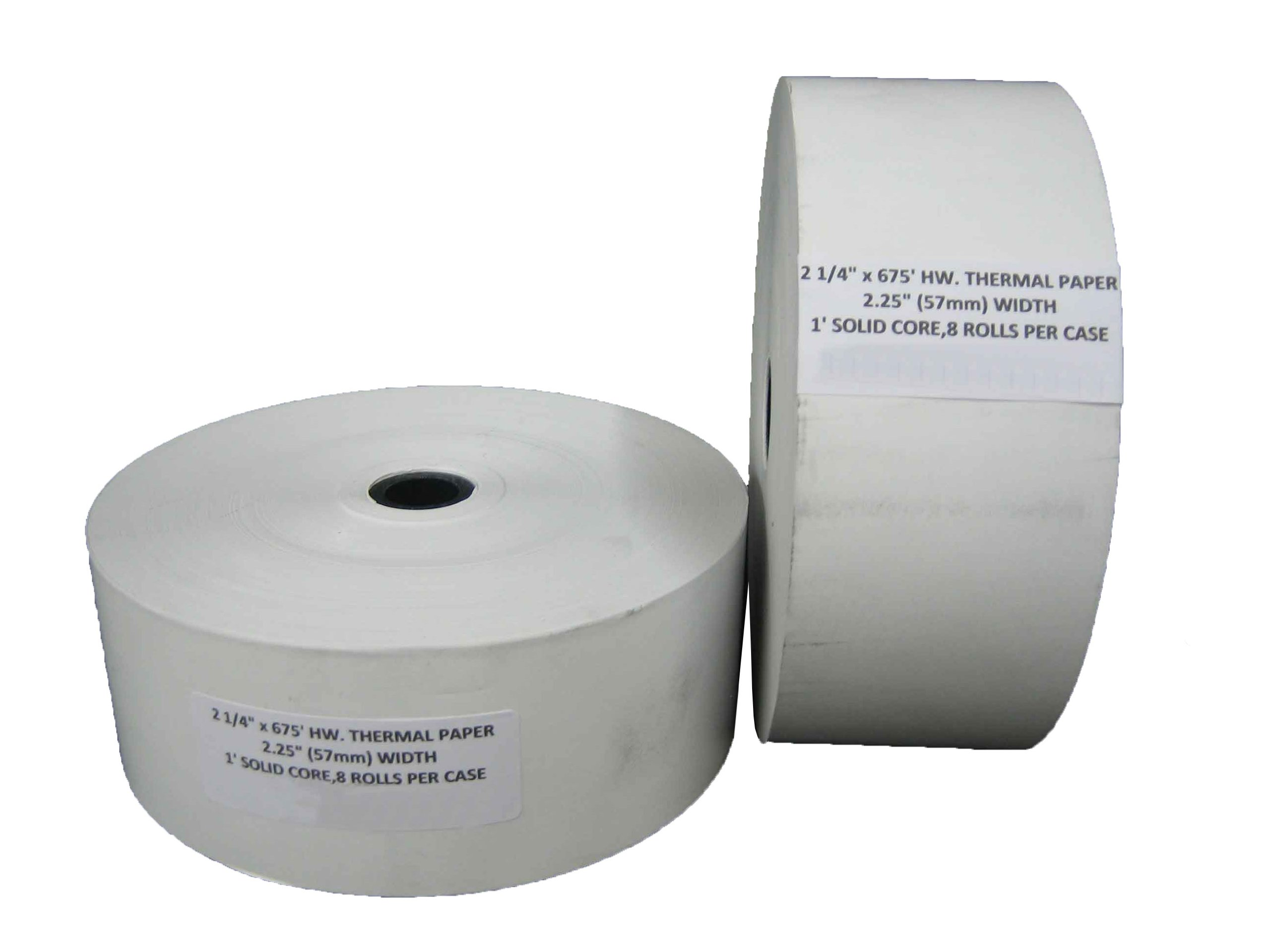"""2 1/4"""" x 675' HEAVY WEIGHT THERMAL ATM RECEIPT PAPER 8 ROLLS / CASE"""