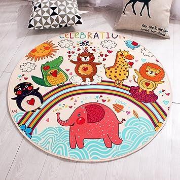Yingui Alfombrilla circular de algodón redonda grande multicolor ...