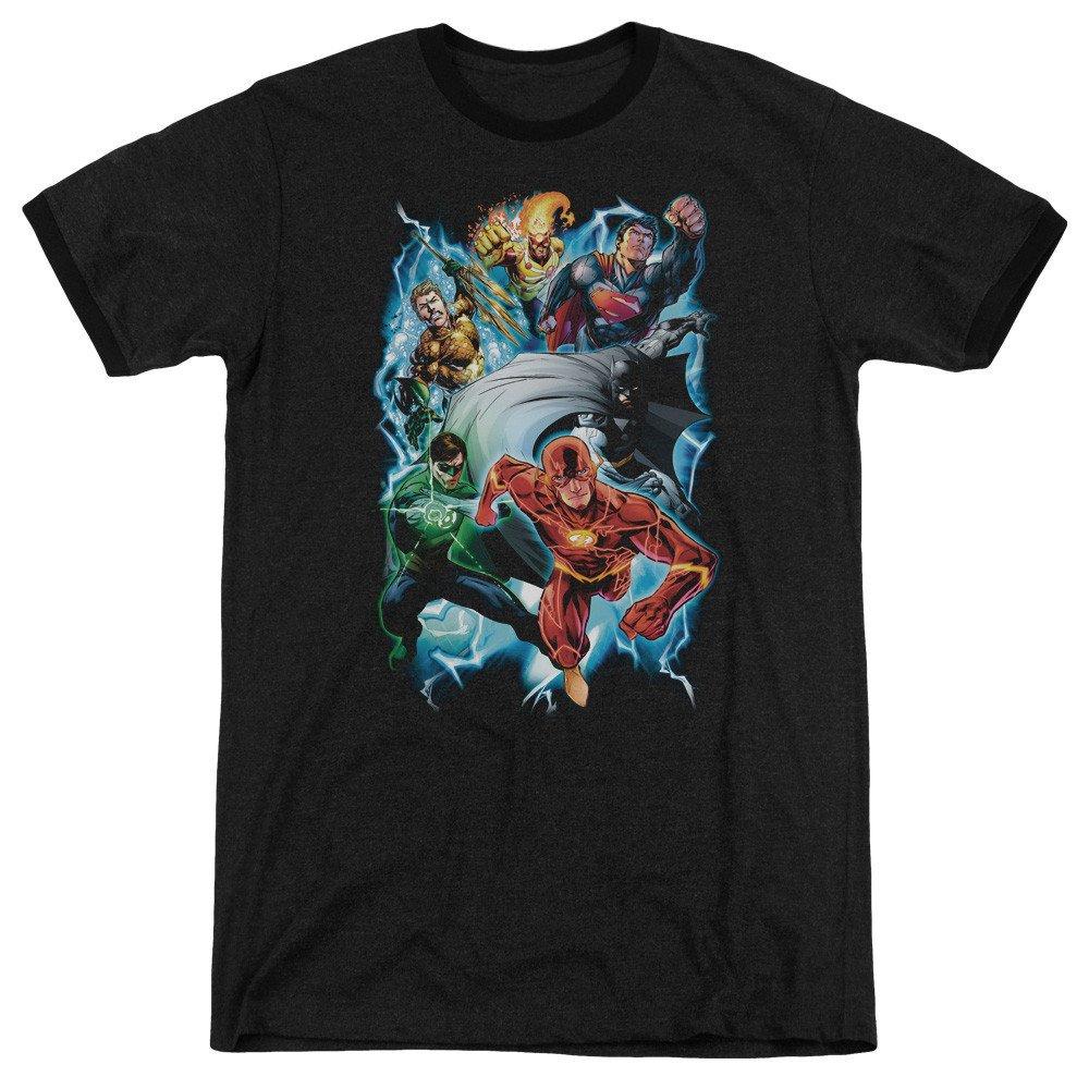 Shirt S Sons of Gotham JLA Electric Team Adult Ringer T