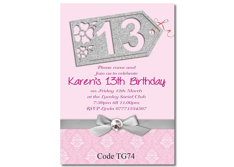 Free Envelopes Teenage Girl Birthday Party Invitations Circular Shaped 145mm