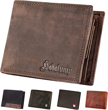 BROWN Vintage Leather Trifold Handmade Men/'s Wallet Cash ID Card Slots RFID Bloc
