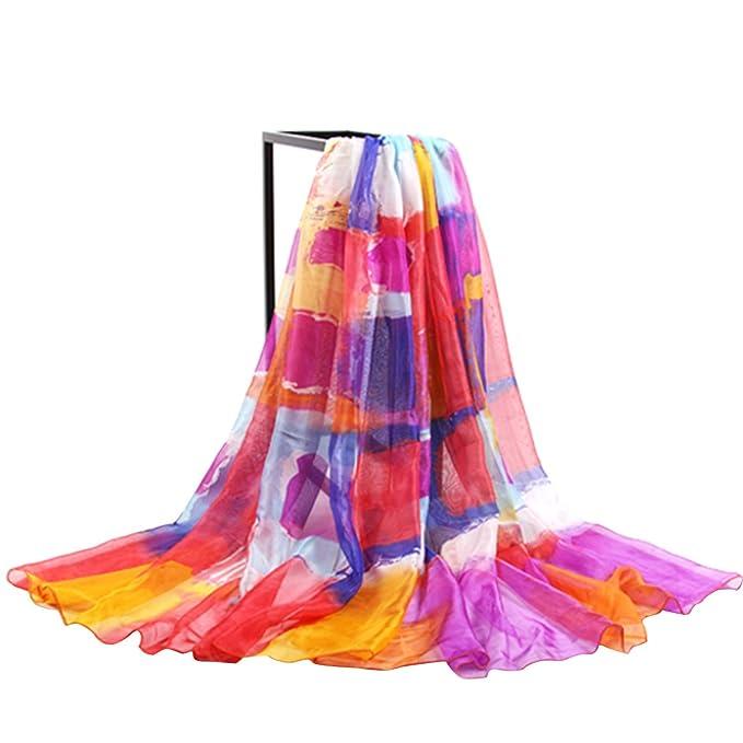 Sommer Damen Chiffon Sarong Pareo Wrap Wraps Schal Schals Wickel  Sonnenschutz Schal Kleid