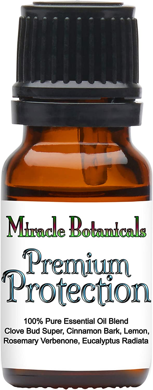 Miracle Botanicals Premium Protection Essential Oil Blend - Compare to Thieves Blend - 100% Pure Therapeutic Grade Essential Oils 10ml