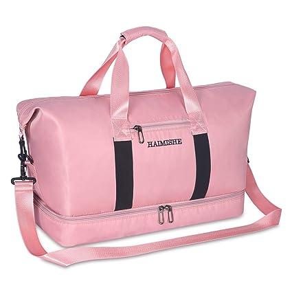neue Sachen wie kommt man neuer Stil von 2019 Kitbeez Sporttasche Frauen Reisetasche Damen mit Schuhfach, Trainingstasche  Fitness Gym Tasche Handgepäck Schwimmtasche mit Nassfach Pink #886
