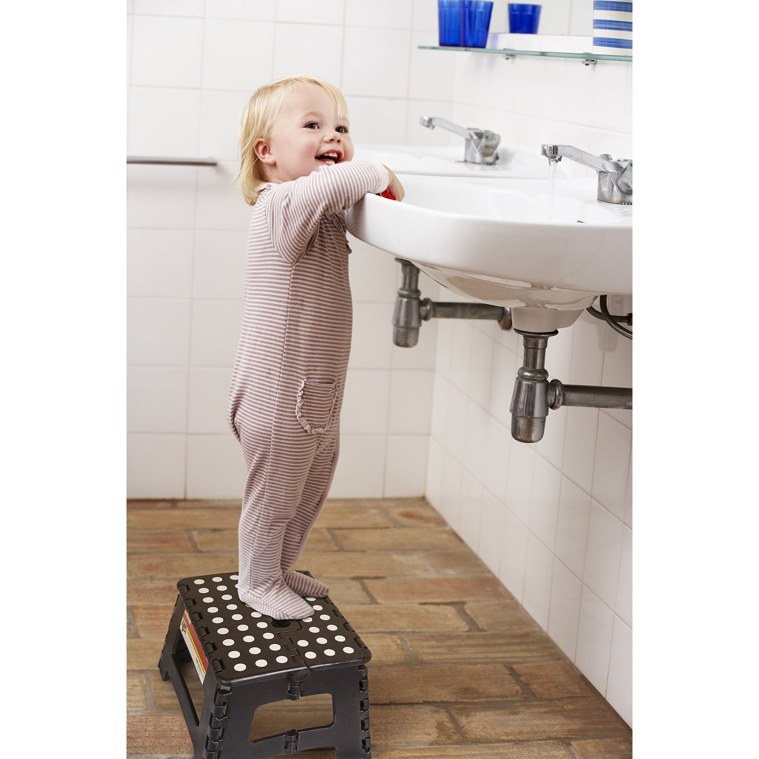 Amazon.com Folding Step Stool - 9 inch Height Premium Heavy Duty Foldable Stool For Kids u0026 Adults Kitchen Garden Bathroom Stepping Stool From ImiKas Baby  sc 1 st  Amazon.com & Amazon.com: Folding Step Stool - 9 inch Height Premium Heavy Duty ... islam-shia.org