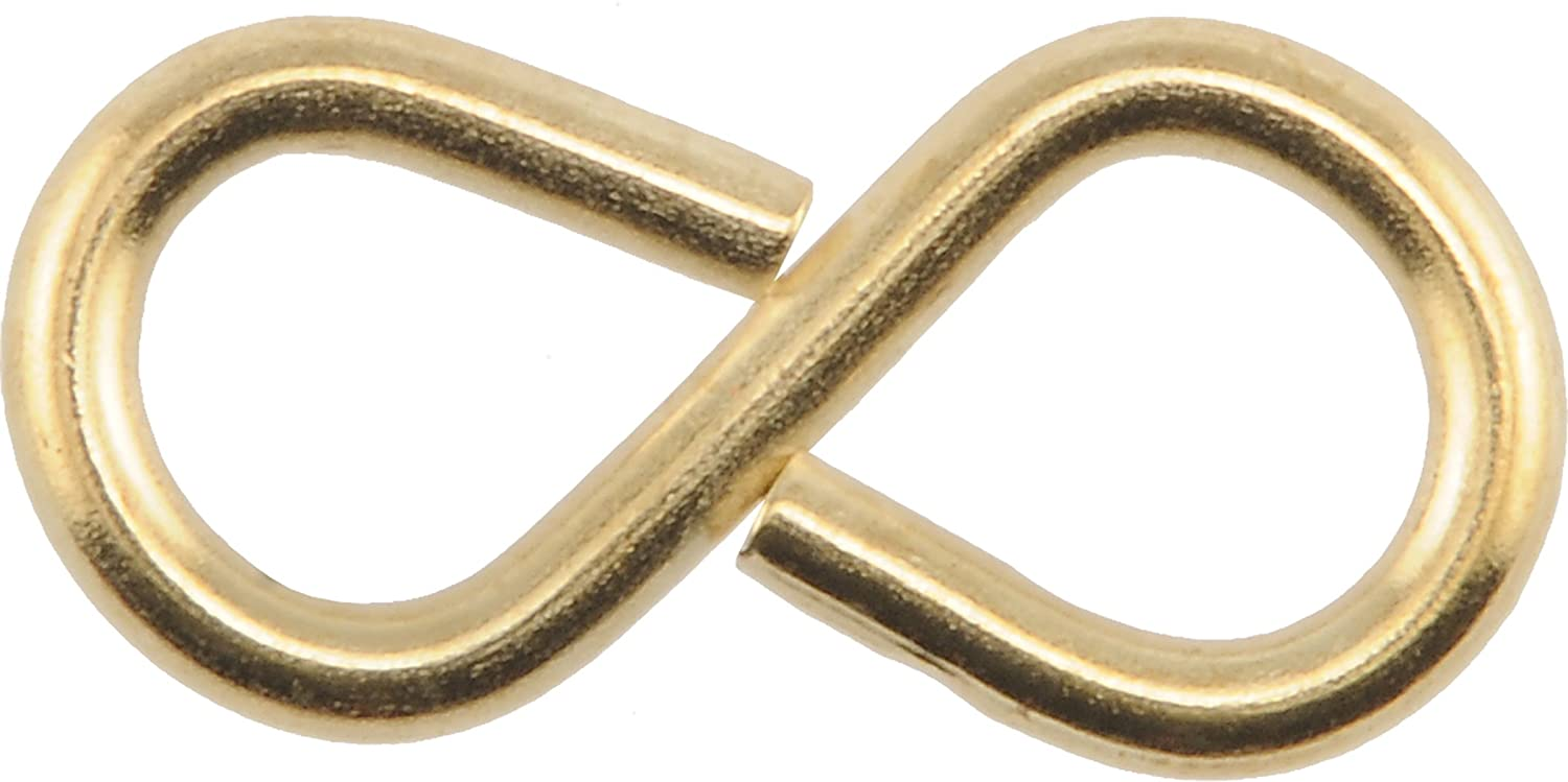 The Hillman Group 701 Brass S Hook 1 5 8 In. 15 Pack