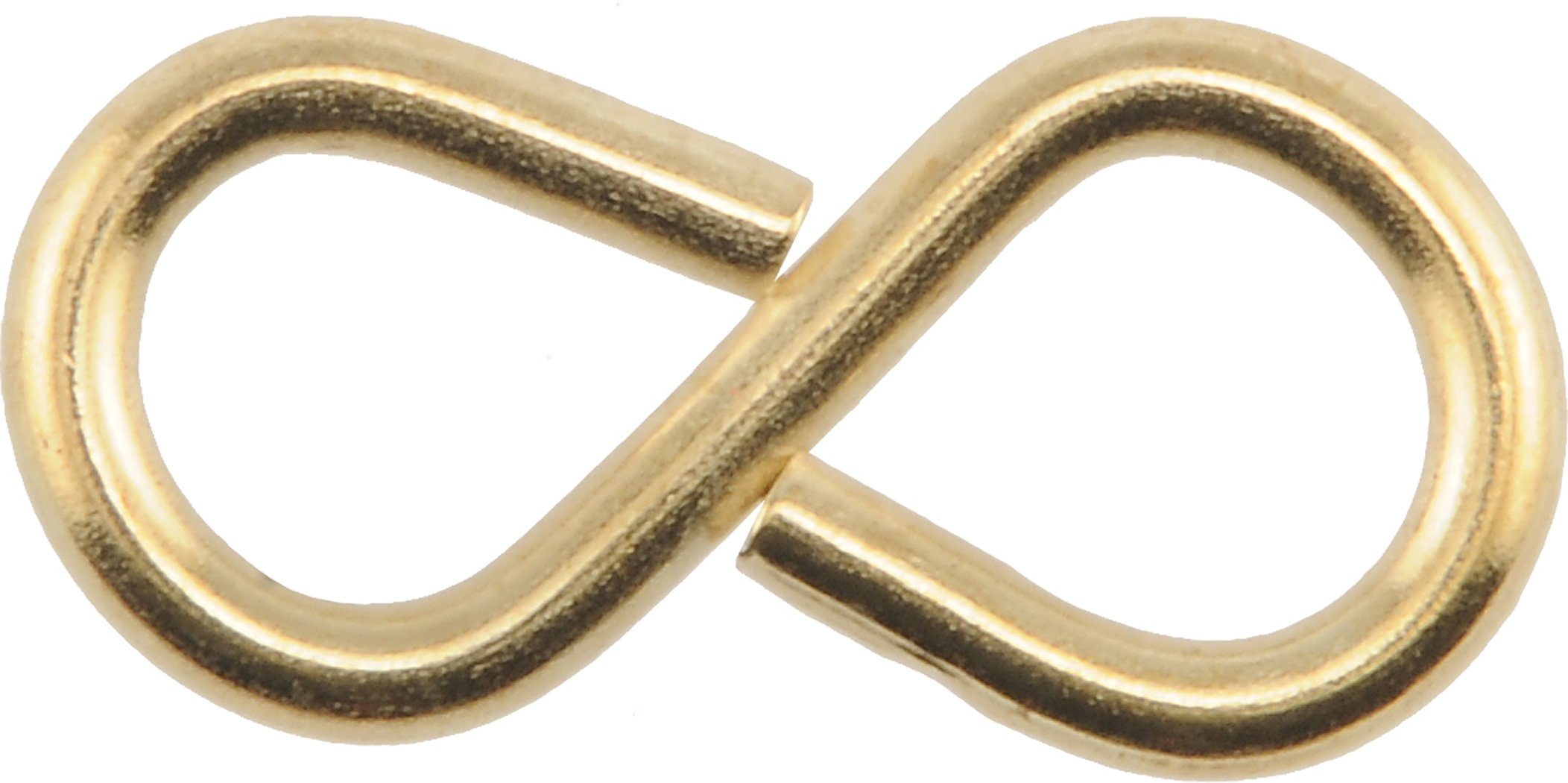 The Hillman Group 701 Brass S Hook 1 5/8 In. 15 Pack