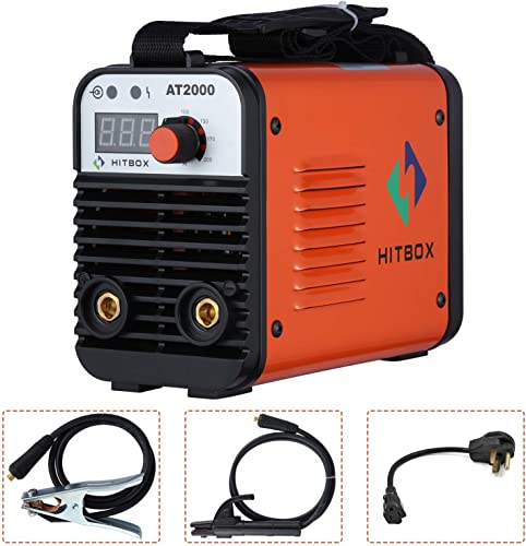 Dual Volt ARC Welding Machine Rod Stick 110 220V Mini Portable Inverter Welder AT2000 HITBOX