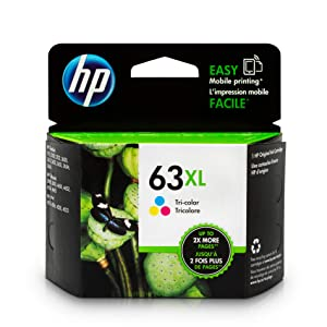 HP 63XL Tri-color Ink Cartridge (F6U63AN) for HP Deskjet 1112 2130 2132 3630 3632 3633 3634 3636 3637 HP ENVY 4512 4513 4520 4523 4524 HP Officejet 3830 3831 3833 4650 4652 4654 4655