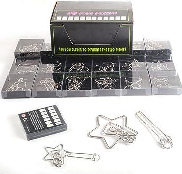 FOKOM Rompecabezas Metal 24Pack Puzzles 3D Juegos de Ingenio Juegos de Mesa Juego IQ Juguete Educativos Habilidad Juego Logica Calendario de Adviento para Niños y Adultos: Amazon.es: Juguetes y juegos