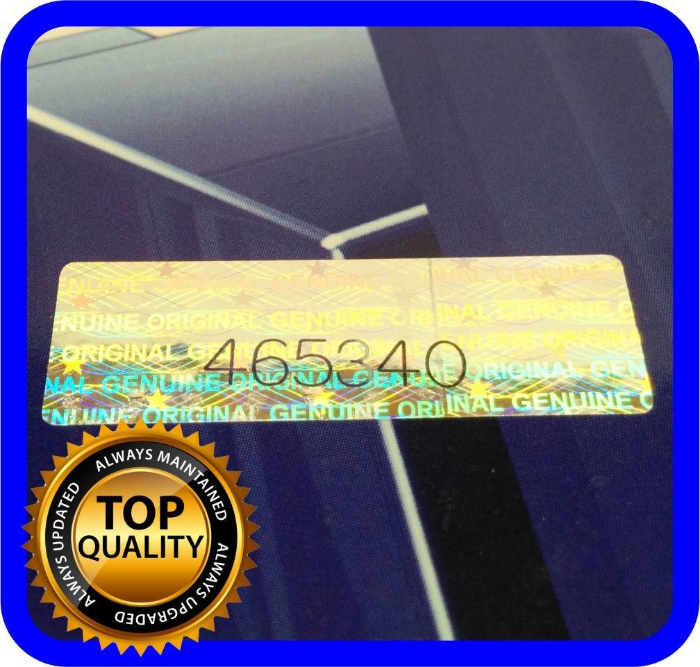 125 etichette olografiche con numero di serie, 30 x 10 mm Holomarks