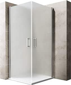 BTH: 85 x 90 x 190 cm Diseño Mampara ravenna22s, con doble puerta oscilante, cristal de seguridad de vidrio satinado, incluye al nano-recubrimiento: Amazon.es: Bricolaje y herramientas