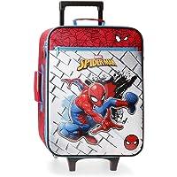 Marvel Spiderman Red Maleta de Cabina Rojo 35x50x16 cms Blanda Poliéster 31.5L 1,8Kgs 2 Ruedas Equipaje de Mano