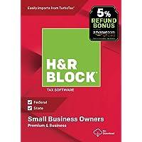 H&R Block Tax Software Premium & Business 2018 with 5% Refund Bonus Offer [PC Download]