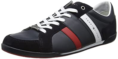 Mens R2285oyal 3c4 Low-Top Sneakers, Midnight Blu/Coffee Bean Tommy Hilfiger