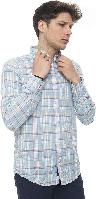Guante Camisa Casual Celeste Algodón Hombre Azul Celeste XL ...