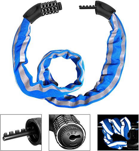 1 Set of Bike Lock Heavy Duty with Keys Steel Cable for Bicycle Security Cycling