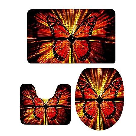 Dolity 1 Set Schmetterling Stil Anti Rutscher Badvorleger Badteppich