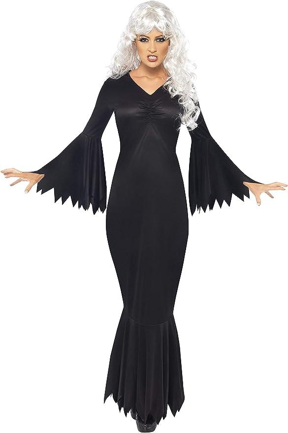 Smiffys-21777M Halloween Disfraz de vampiresa de Medianoche, con ...