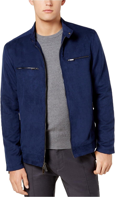 Ryan Seacrest Distinction Mens Faux Suede Jacket
