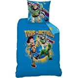 Toy Story Game CTI 042820 Duvet Cover 140 x 200 cm + 1 taie 63 x 63 cm Cotton/Polyester Blue Set of 2