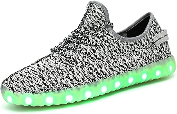 LED Light up Shoes Kids Boys Girls Breathable Slip-on Flashing Sneakers