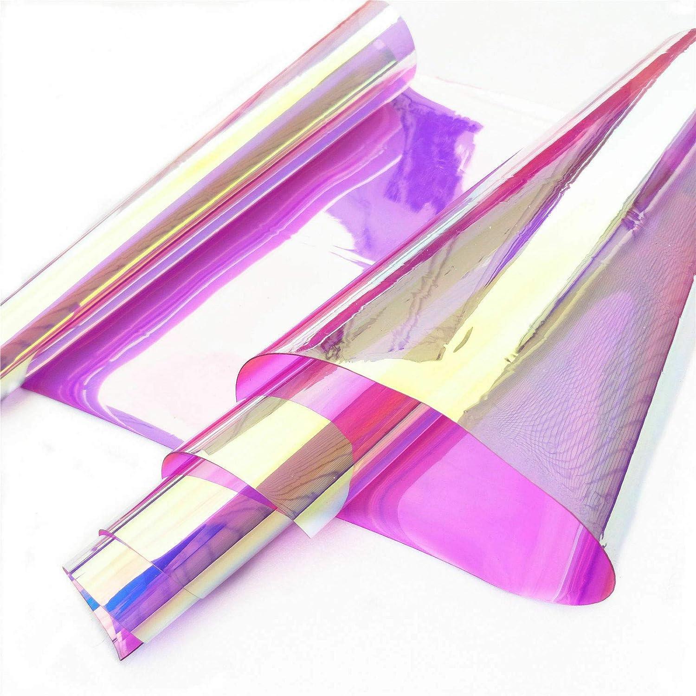 Amazon.com: ZAIONE Rollo de PVC holográfico transparente ...