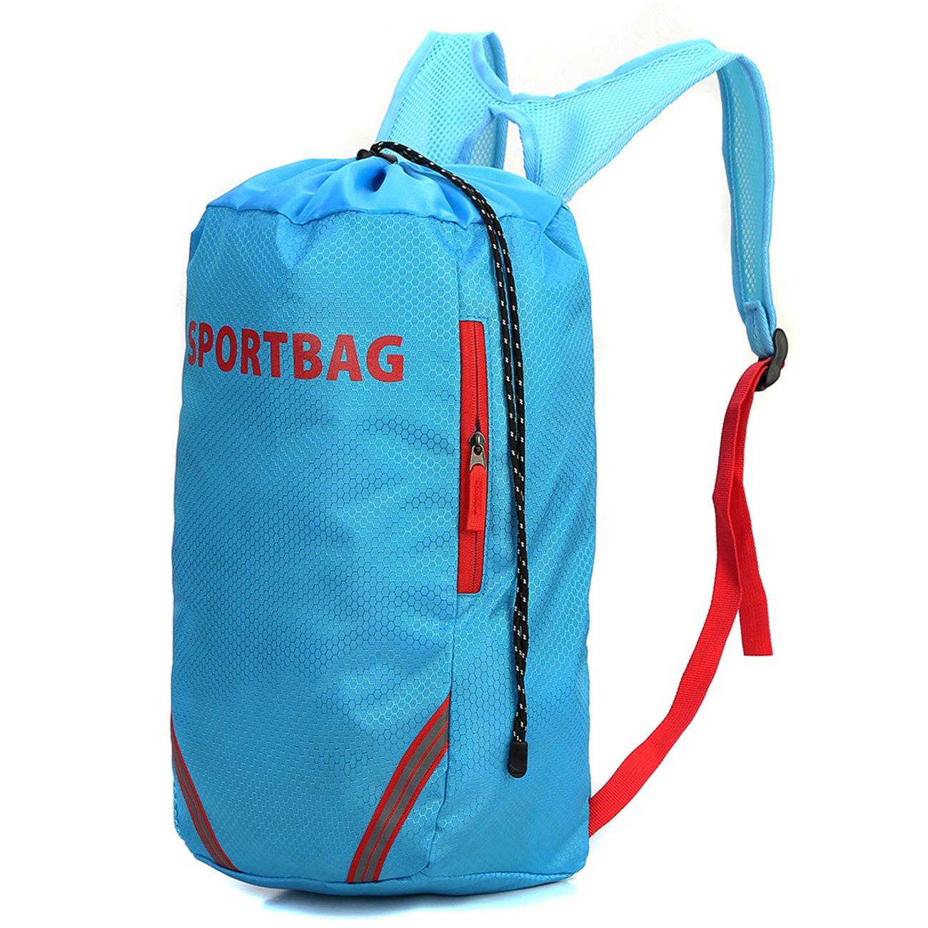YU XIN Drawstring Backpack Waterproof Gym Bag Gym sack for Men Women and Students, Lightweight Sports Bag Kids School PE Bag Blue