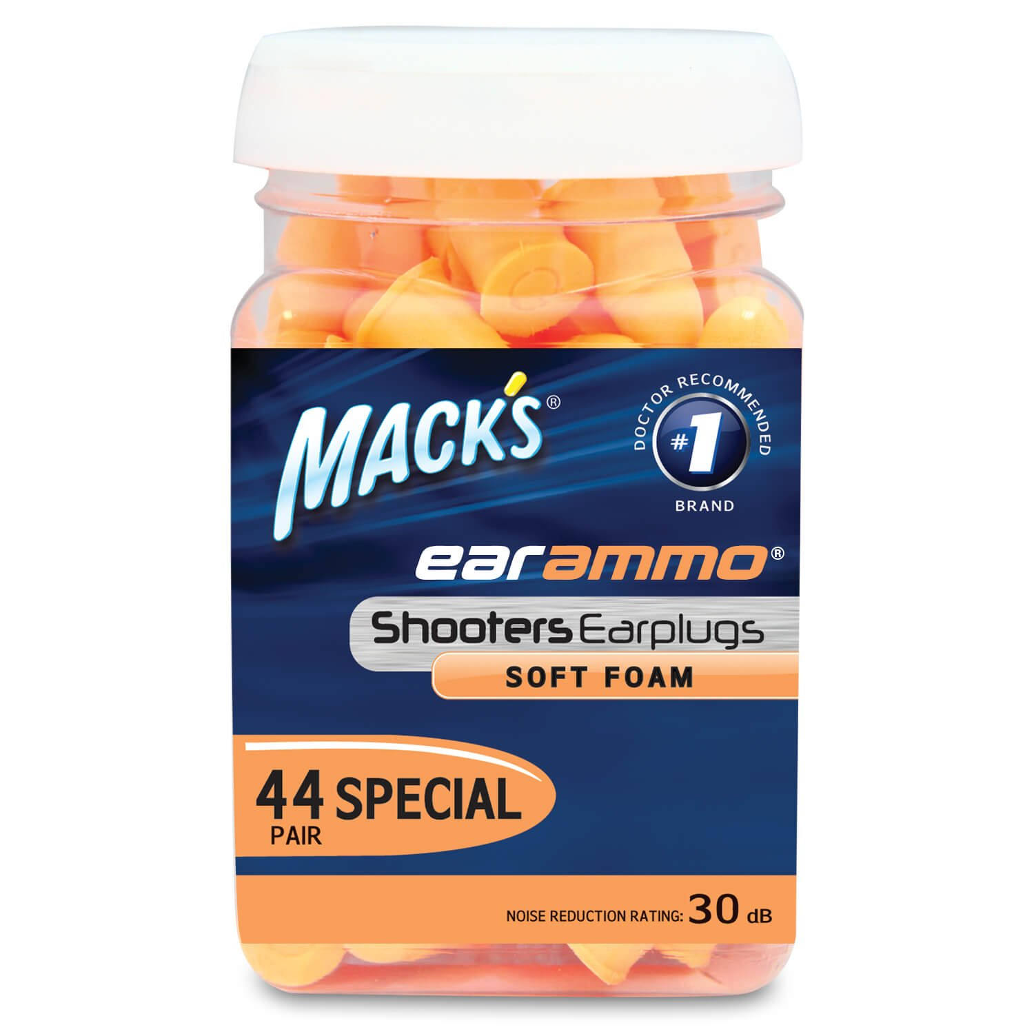 Mack's Ear Ammo Shooting Ear Plugs – Soft Foam, 44 Pair – Shooting Ear Protection for Hunting, Tactical, Target, Skeet and Trap Shooting