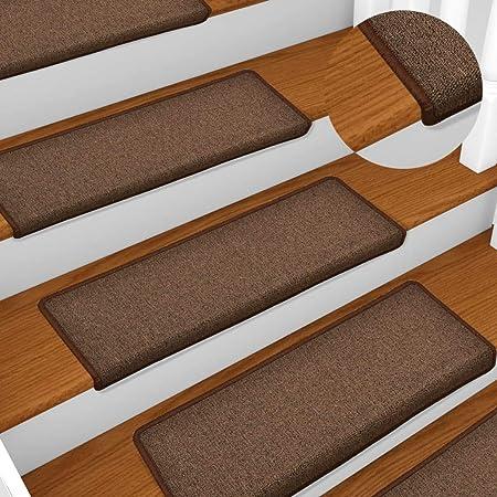 Benkeg Alfombrilla Peldaños de Escalera 15 Uds Marrón 65X25 Cm, Alfombras de Escalera, Alfombrillas para Escaleras Seguridad para Interiores: Amazon.es: Hogar