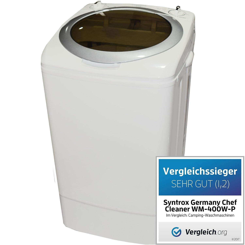 Machine à laver de camping Syntrox Germany - Avec pompe et essoreuse, petit format, A+, 9kg