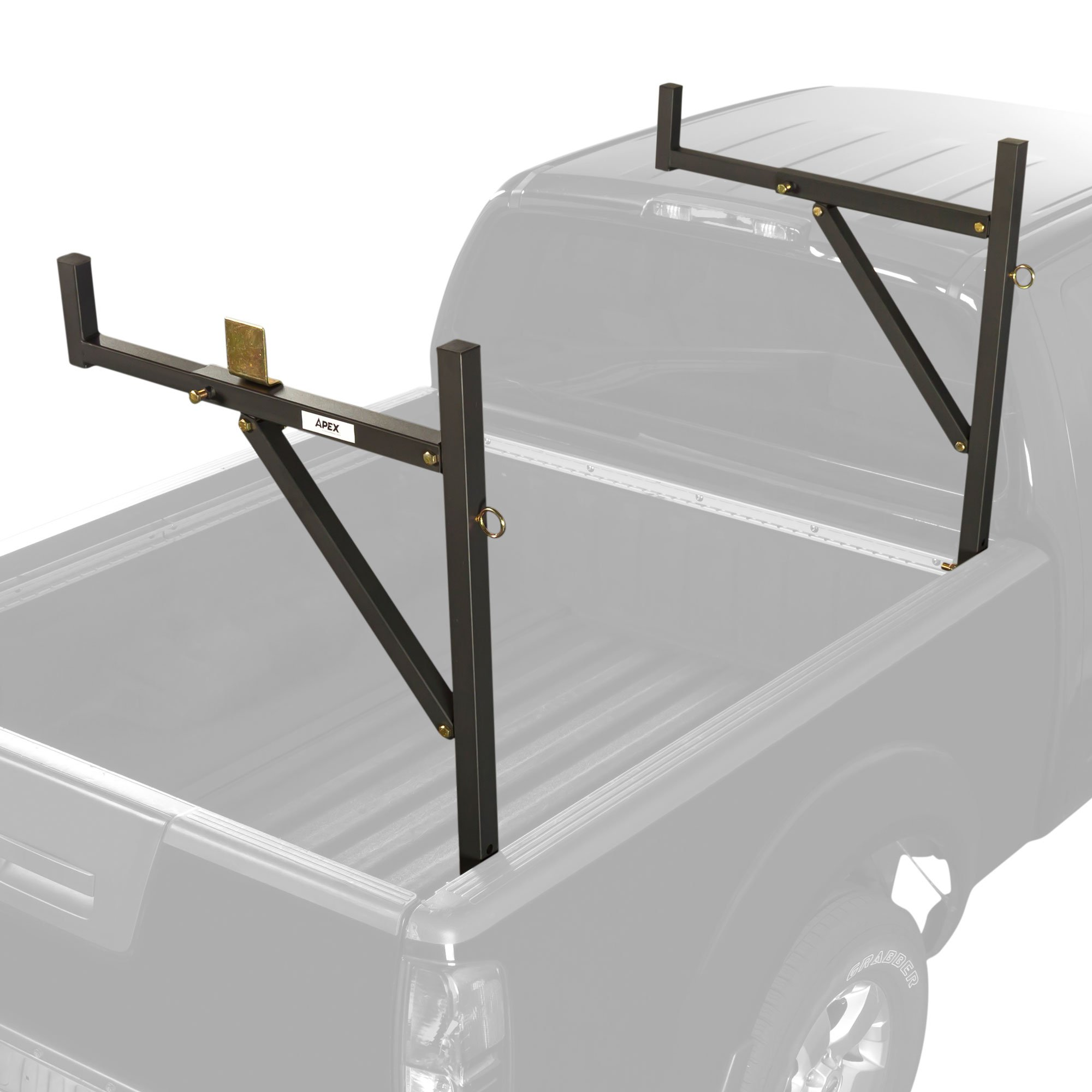 truck ladder rack bed lumber attachment on utility bedliners spray and