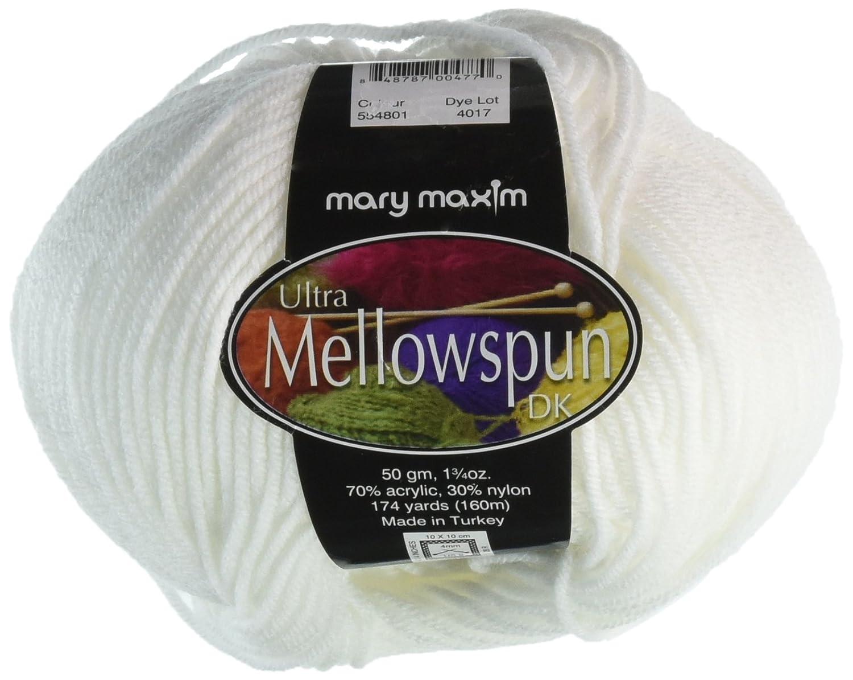 New Mary Maxim Ultra Mellowspun Yarn White 554-801
