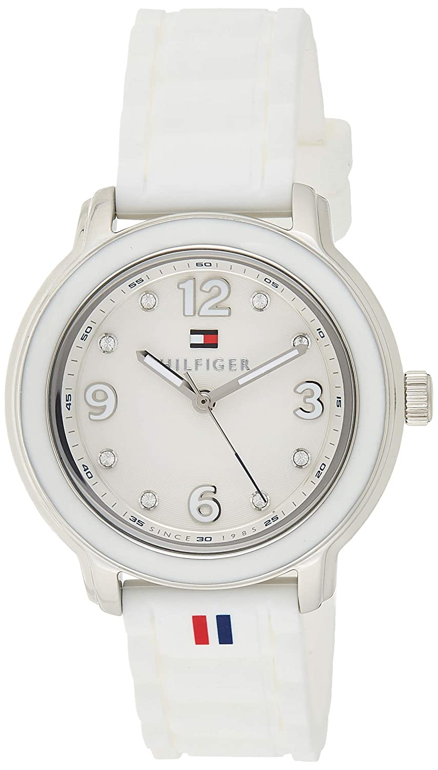 Tommy Hilfiger Women s 1781418 Crystal-Accented Stainless Steel Watch