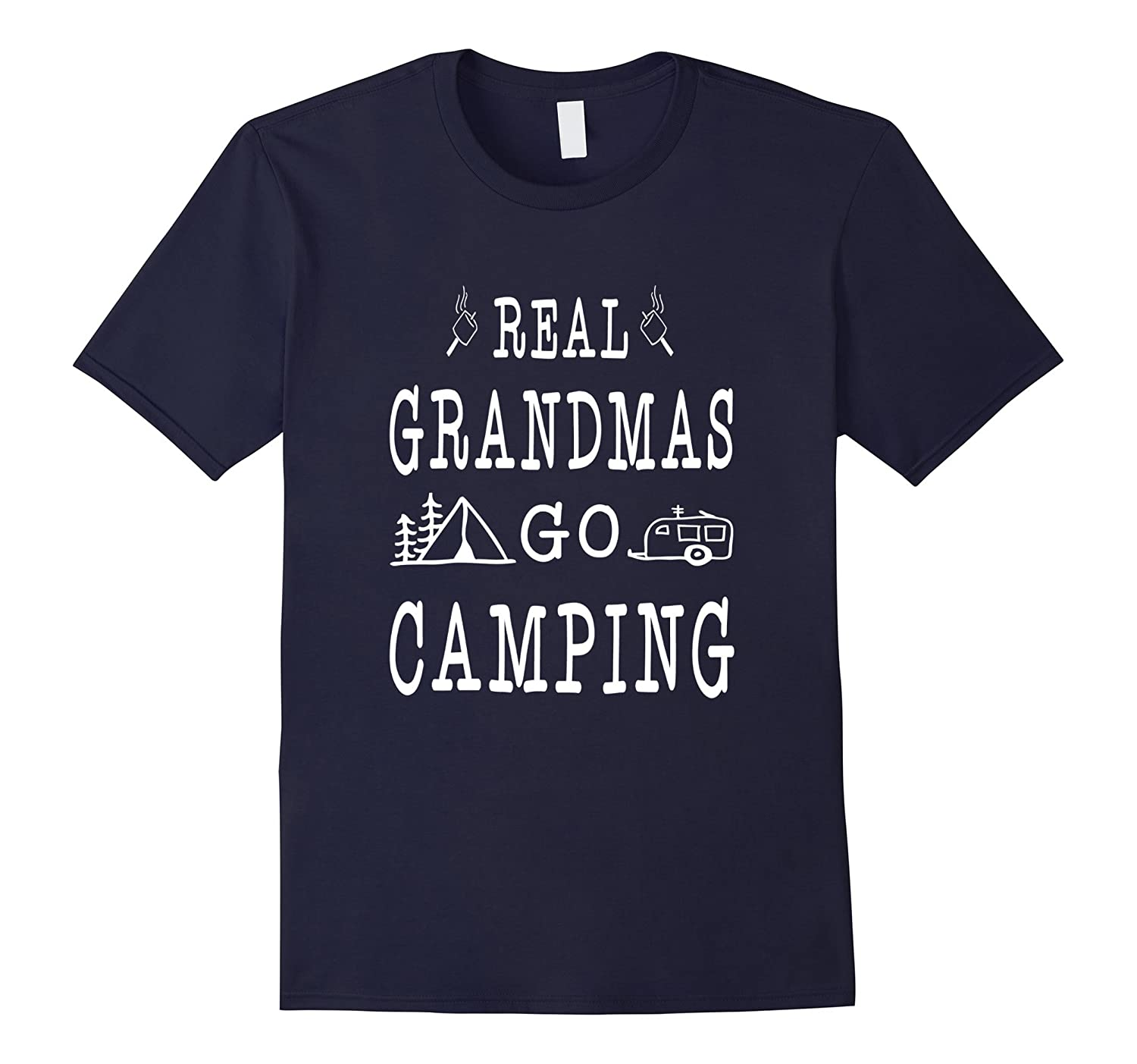 Real Grandma Go Camping Gifts Idea Camper Women's T-shirt